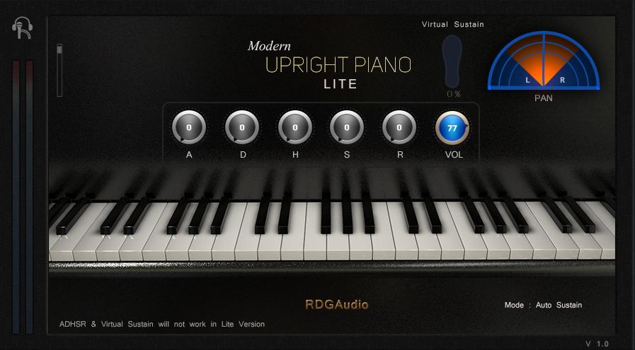 RDGAudio Modern Upright Piano Lite