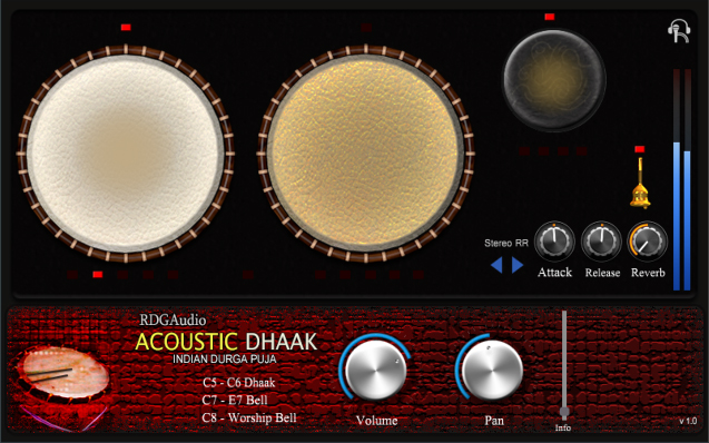Acoustic Dhaak AU VST plugins