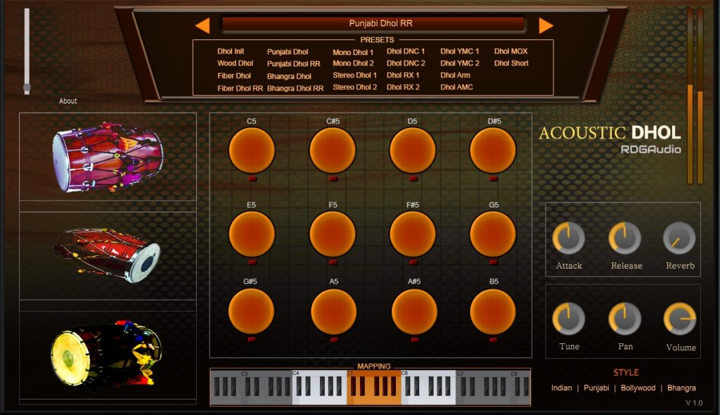 Acoustic Dhol RDGAudio Indian AU VST