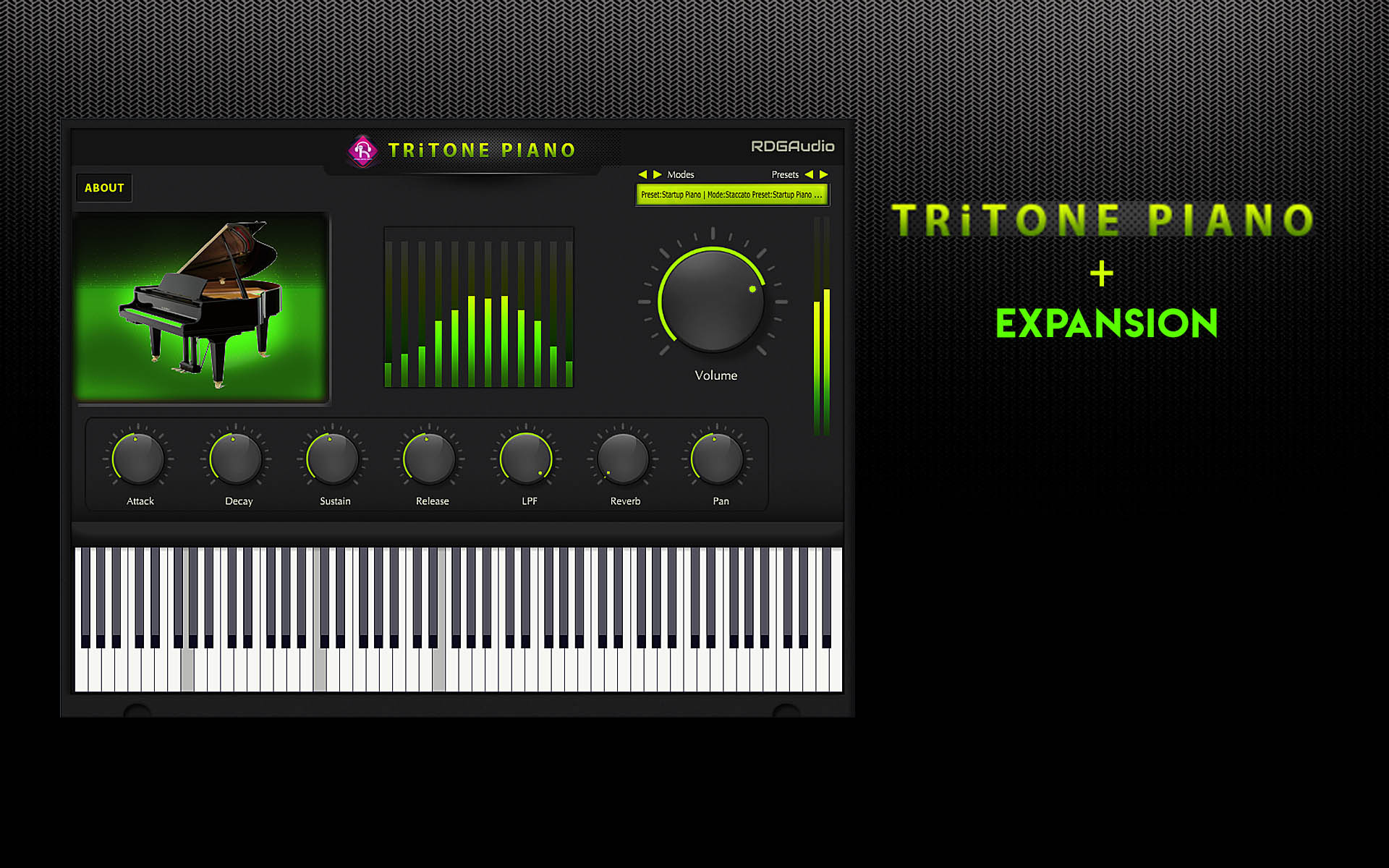 Tritone Piano RDGAudio Slide HD