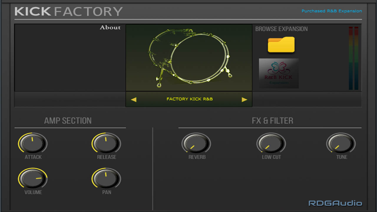 Kick Factory R&B RDGAudio AU VST VST3 Instruments