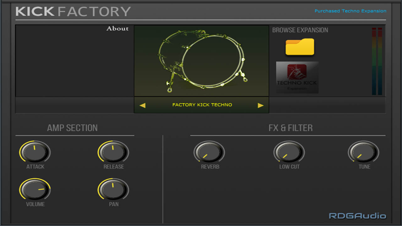 Kick Factory Techno RDGAudio AU VST VST3 Instruments