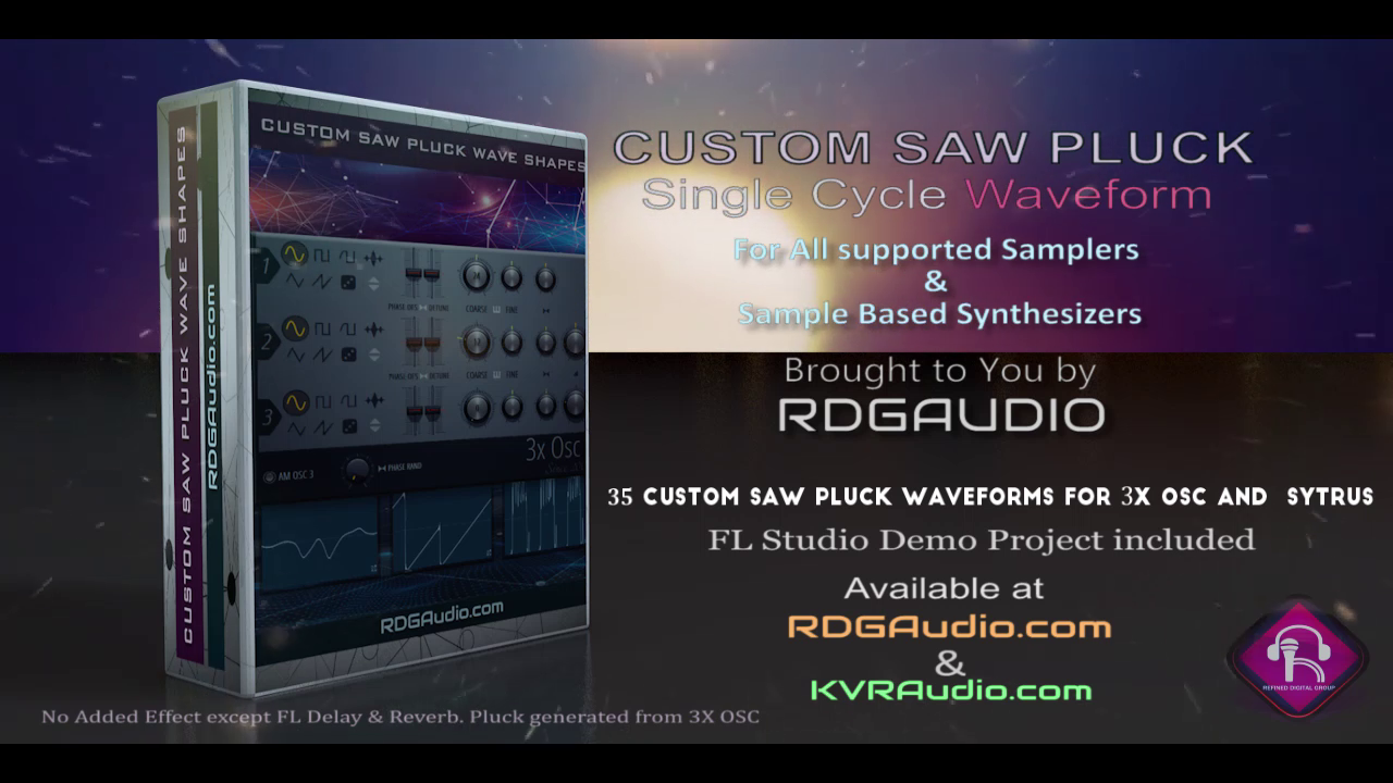 35 Custom Saw Wave Shapes sampler synthesizer