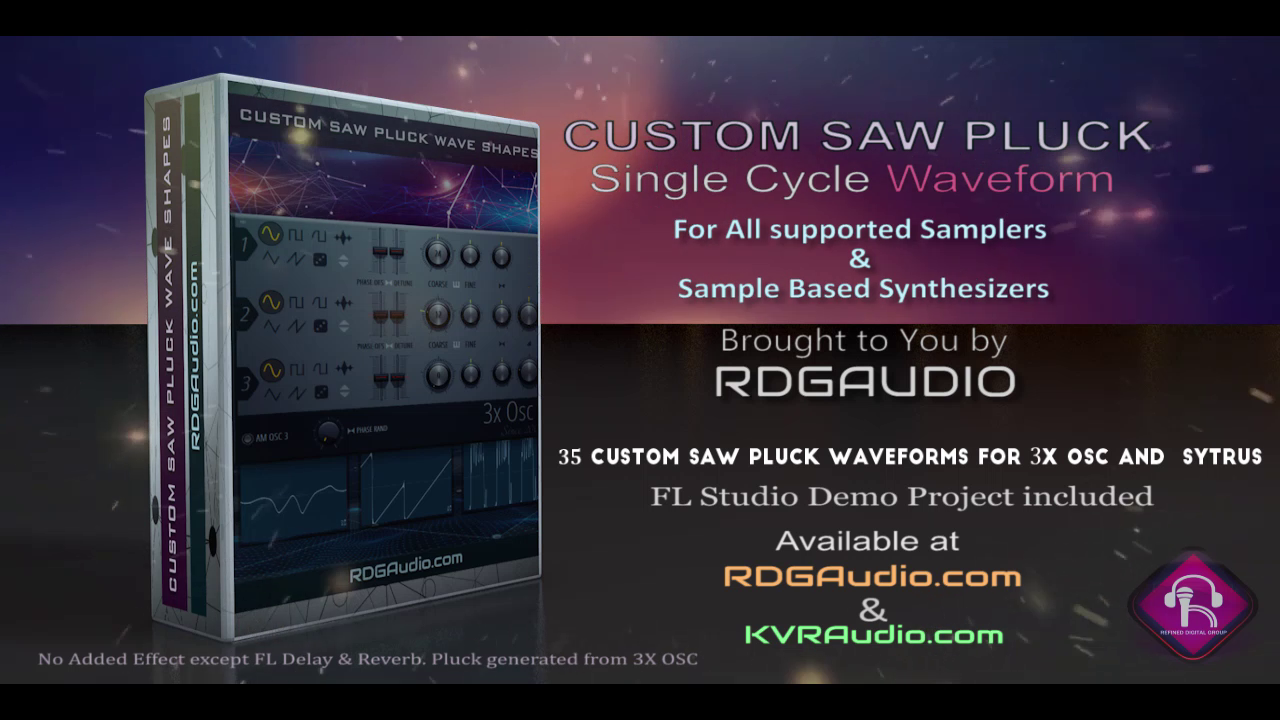 Custom Saw Pluck Wave Shapes RDGAudio