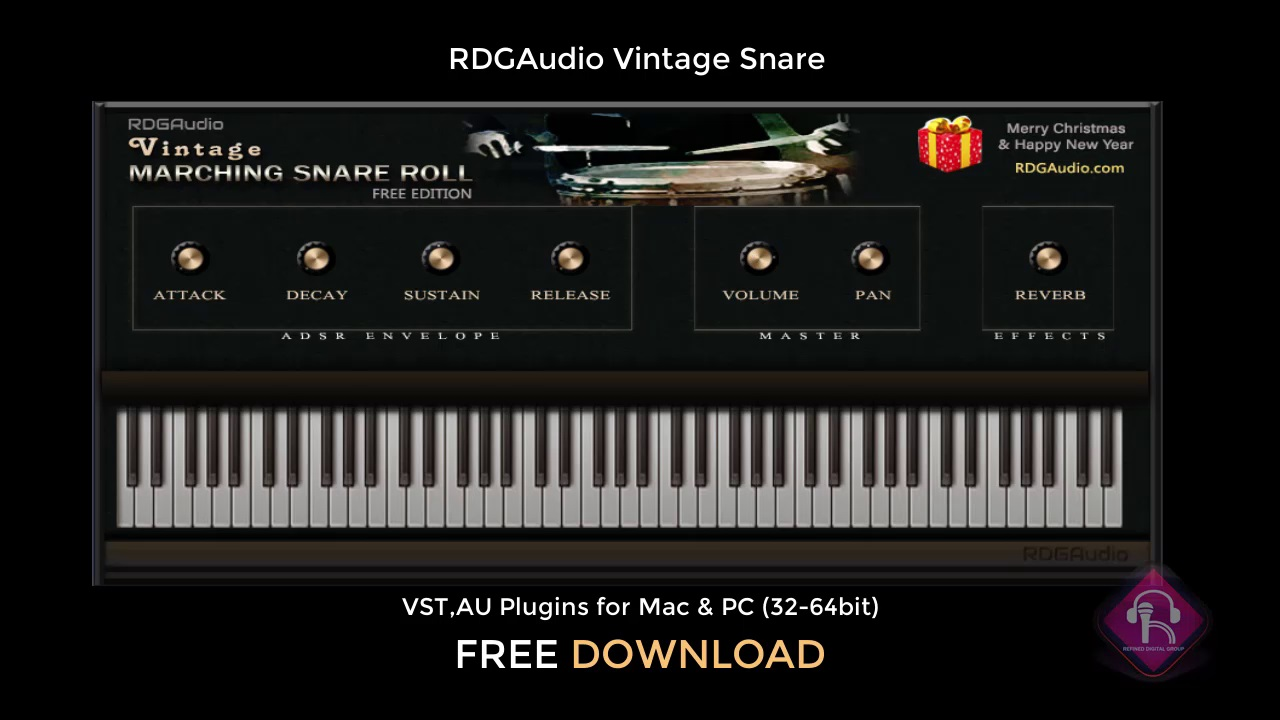 RDGAudio Vintage Snare Roll AU VST FREE Plugins Download